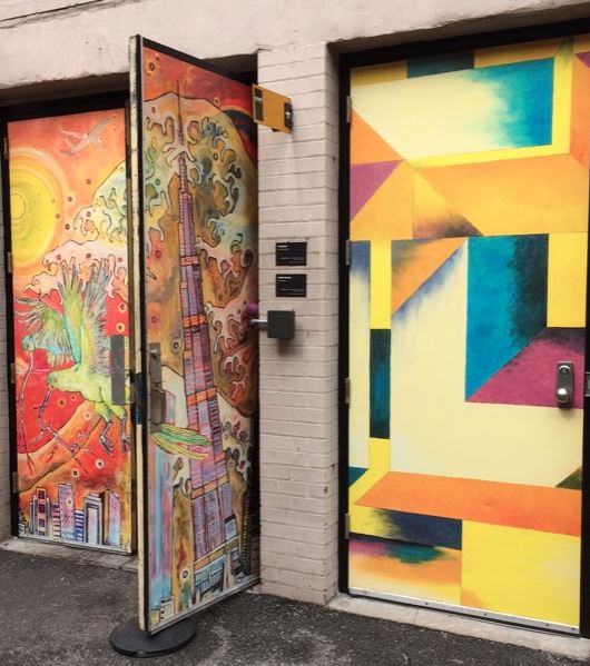 Concept showing how art could be incorporated into the alley