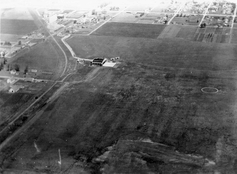 Aerial view of Rochester Airport, August 1931 / Courtesy History Center of Olmsted County
