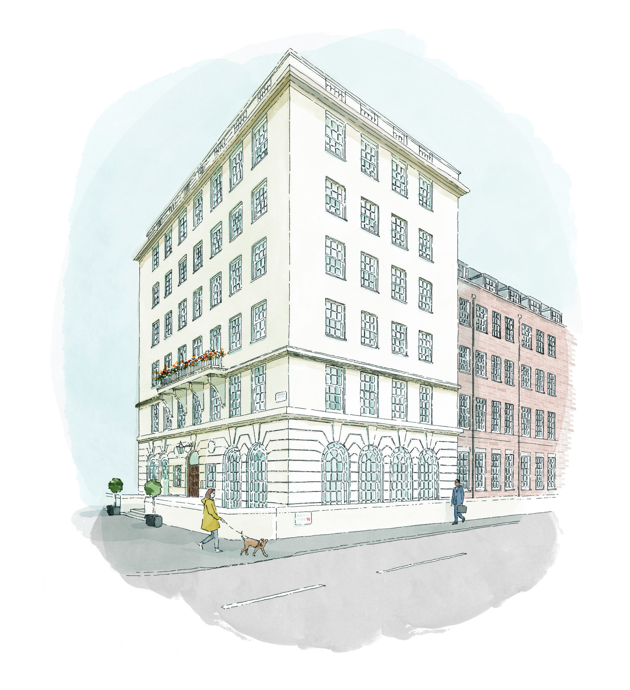 The clinic will be located along Portland Place in central London / submitted