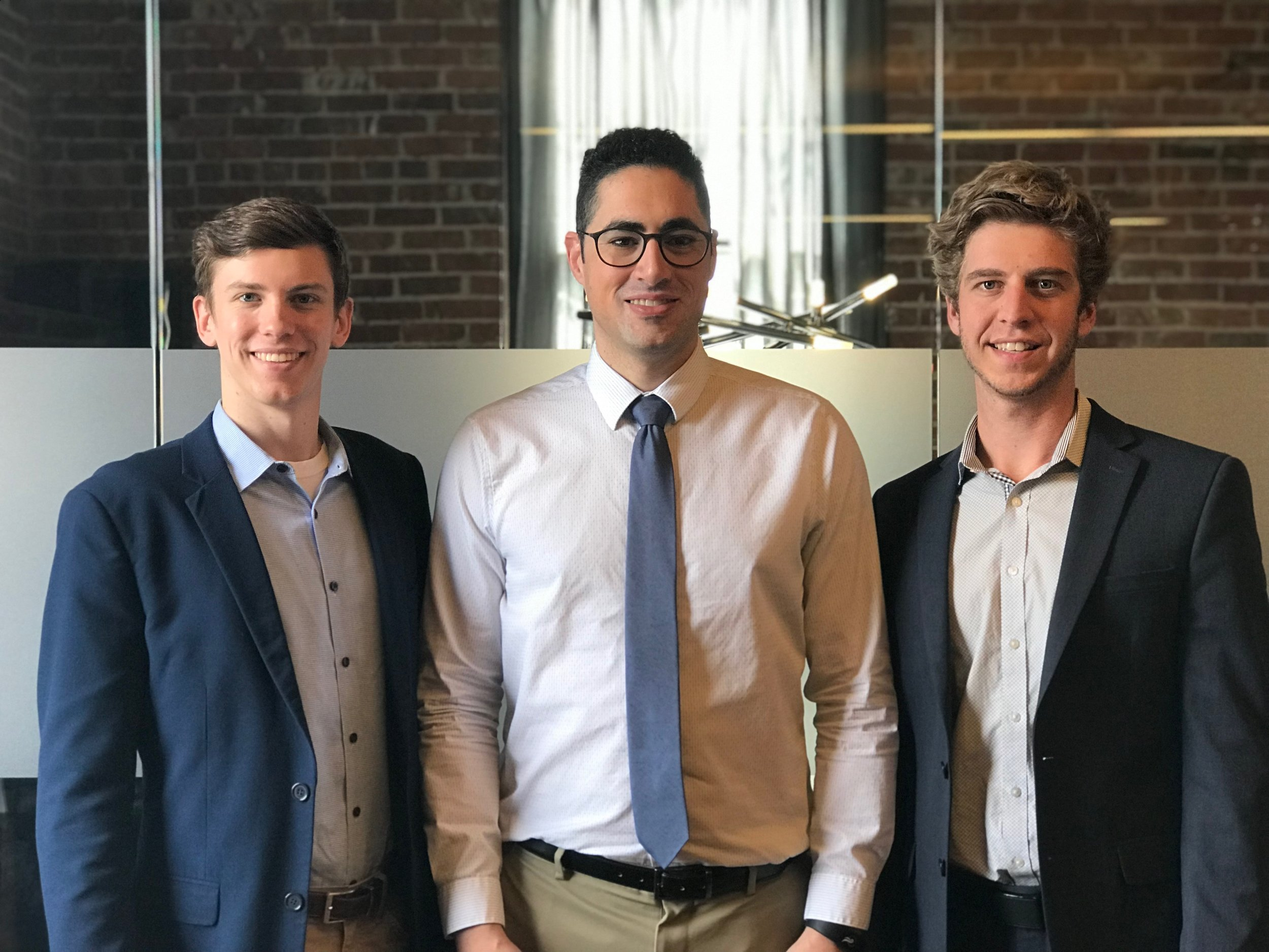 The SkyWorks team / From left to right: Barsness, Makkawy and Hawkins / Submitted