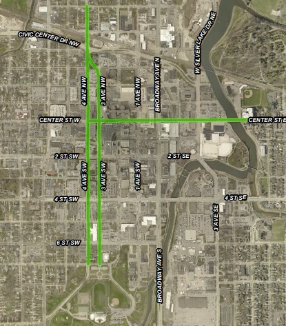 Green shows where bike lanes will be added