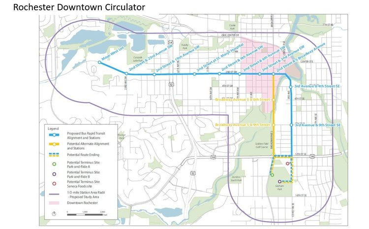 Proposed circulator route / DMC planning documents