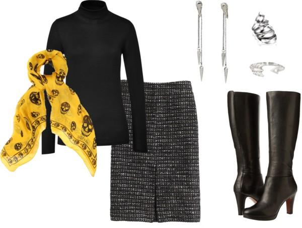 Fashion Friday 12/6/13  by  fashfri  featuring a  long black skirt