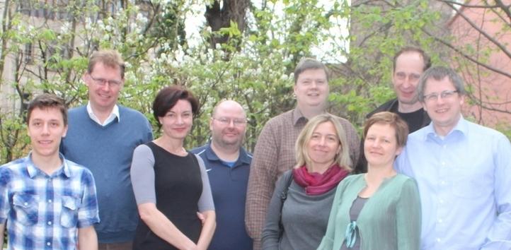 von links nach rechts: David Alcer, Marc Vrakking, Ingrid Elbertse, Oliver Penz, Jörg Schaeffer, Kalina Skordeva, Jana Hinkel, Christian Burkhard, Kai Schaeffer