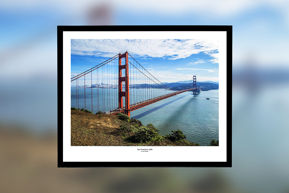 Golden Gate, USA – oprawiony wydruk (50x40 cm) - 200 zł   kup teraz ➞