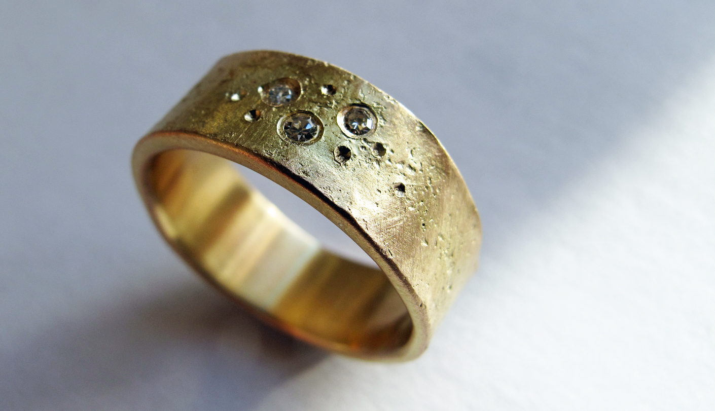 recycled remelt gold and diamond ring bespoke commission .jpg