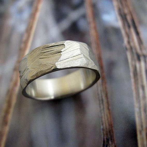 Palladium Rock Ring