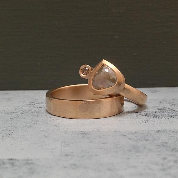 Wedding ring set.