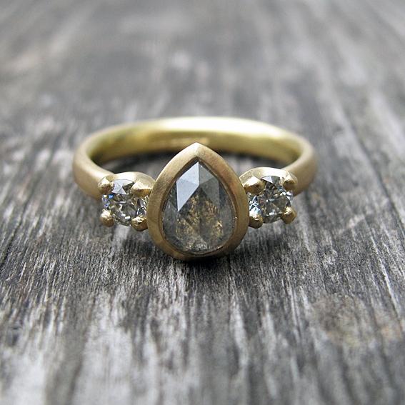 Natural diamond engagement ring.