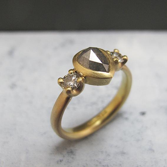 Fairtrade gold natural diamond ring.