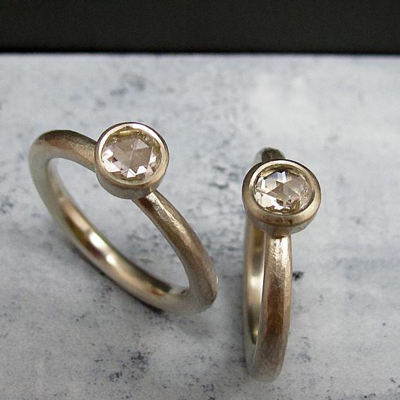 Rose cut diamond engagement rings.