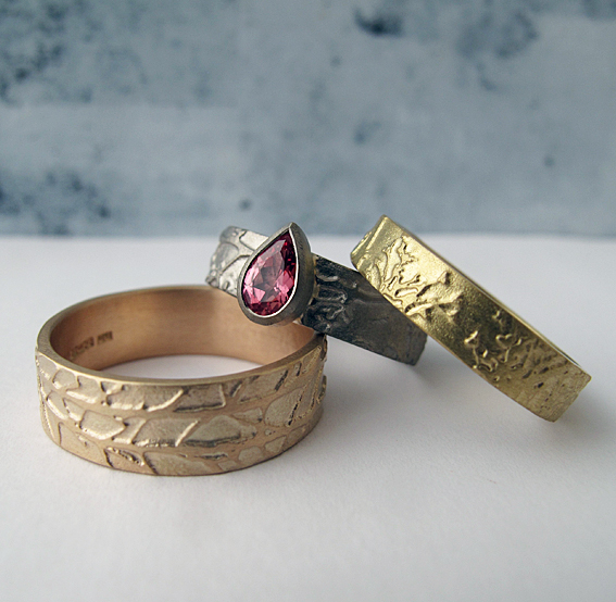 Fairtrade etched rings