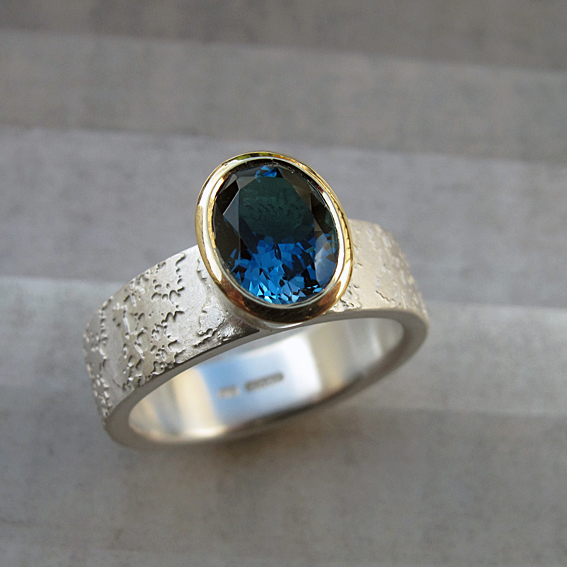 London Blue Topaz Forsythia Ring.