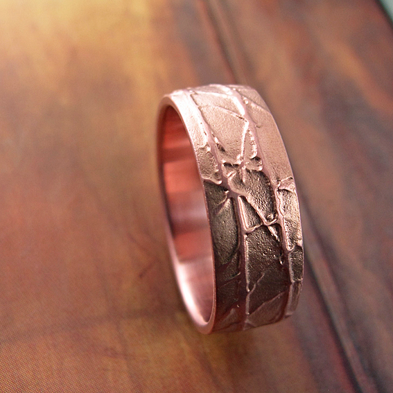 Rose Gold Winter Ring.
