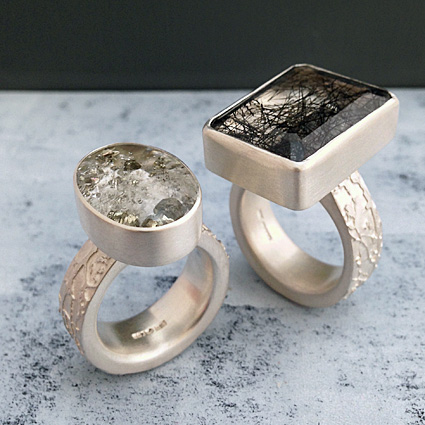 pyrite in quartz tourmalinated quartz big gemstone rings alternative engagemnt rings handmade in scotland.jpg