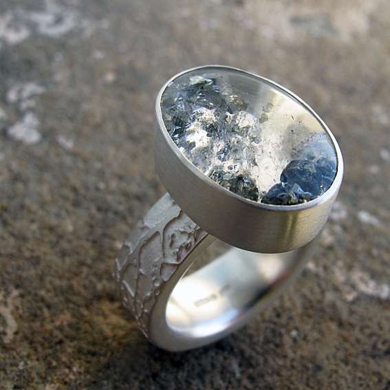pyrite in quartz etched silver ring commission blossom ring silver.jpg