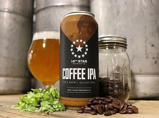 We are psyched to be part of this @14thstarbrewing limited can release! Coffee IPA brewed with roasted Ethiopia Uraga beans from @vividcoffee and cold brewed by NBCB! Trust us, you can't go wrong! Get your hands on it while you still can! 🤤