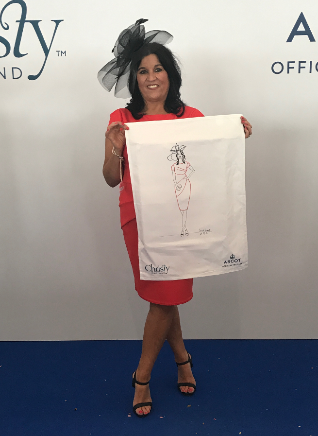 Event Illustrator, Ascot Races with Christy Homes