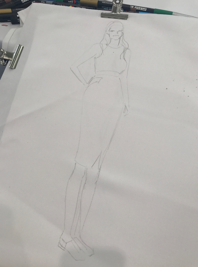 Live fashion illustration at Ascot for Christy Homes