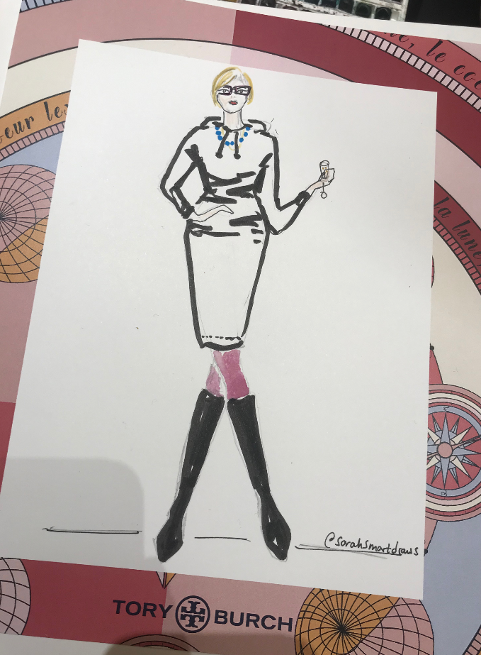 Live Fashion Illustrator Tory Burch