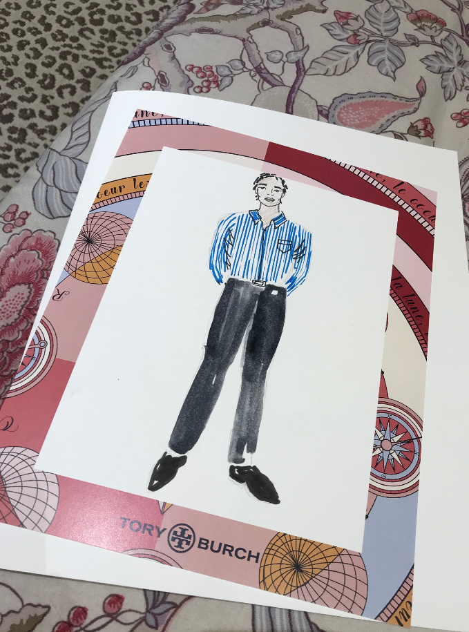 Mens Fashion Illustration for Tory Burch