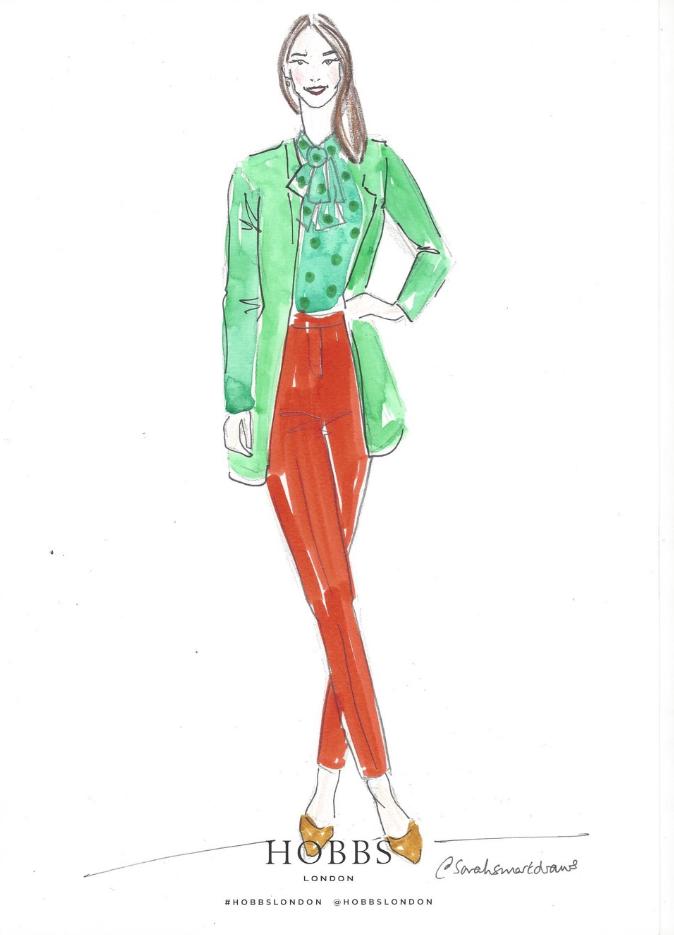 Hobbs Live Fashion Illustration
