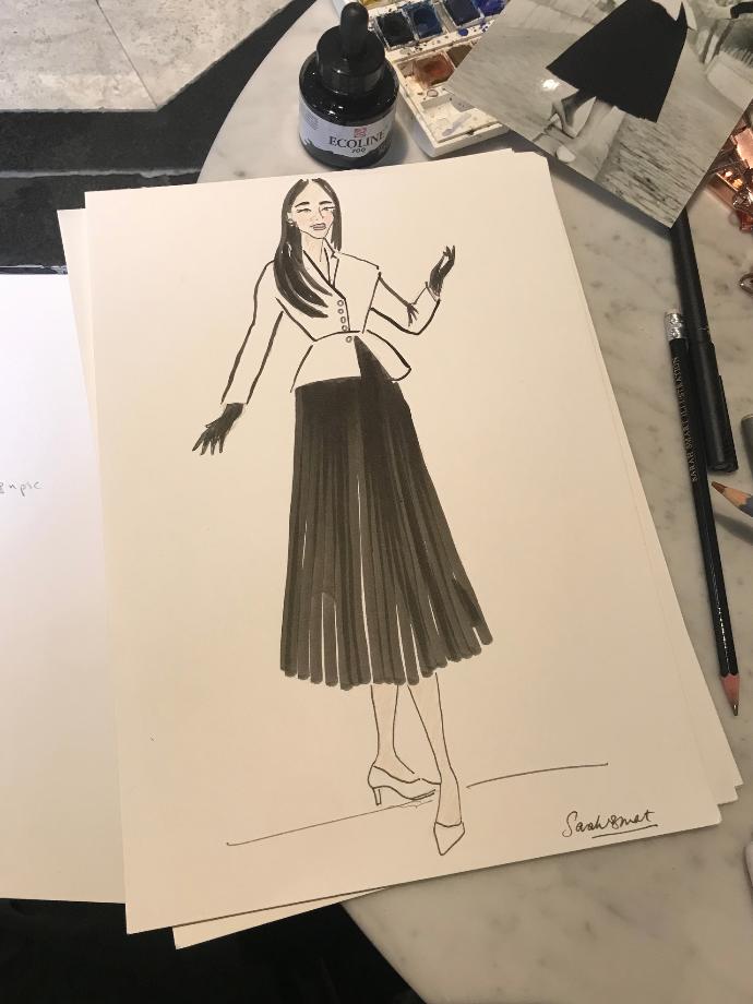 @AlizeyMirza Dior Fashion Illustratiom