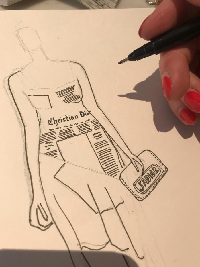 Dior Afternoon Tea Fashion Illustration