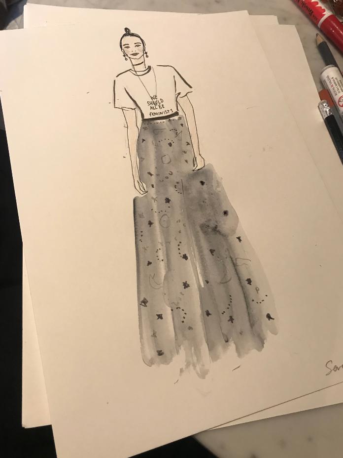 Dior Live Fashion Illustration