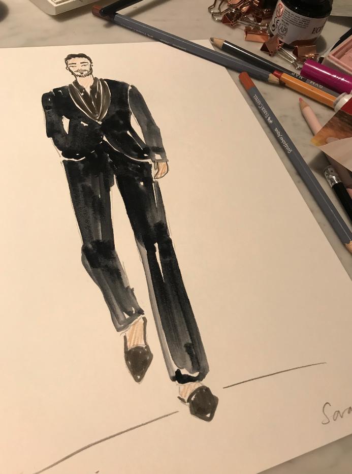 DIOR Mens Fashion Illustration
