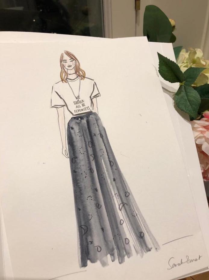Dior Afternoon Tea Fashion Illustration @emilyjanejohnston