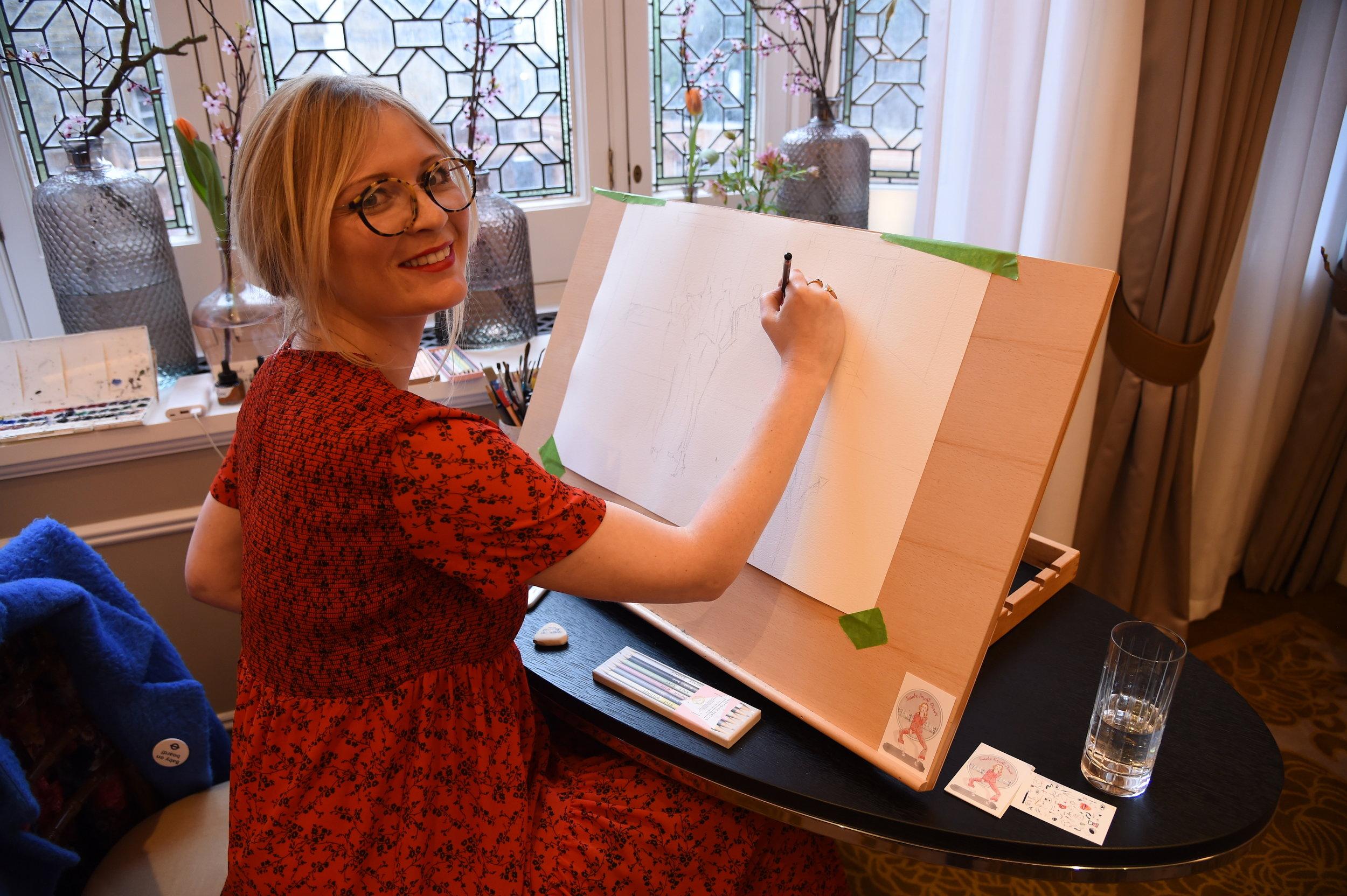 Live Fashion Illustrator, Sarah Smart