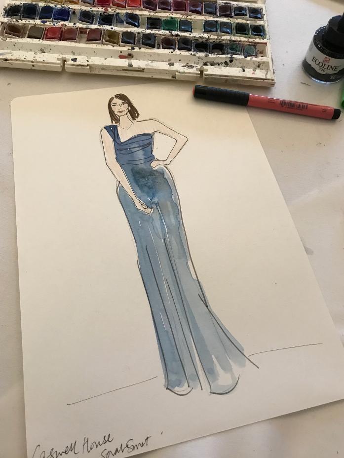 Bridesmaid Fashion Illustration