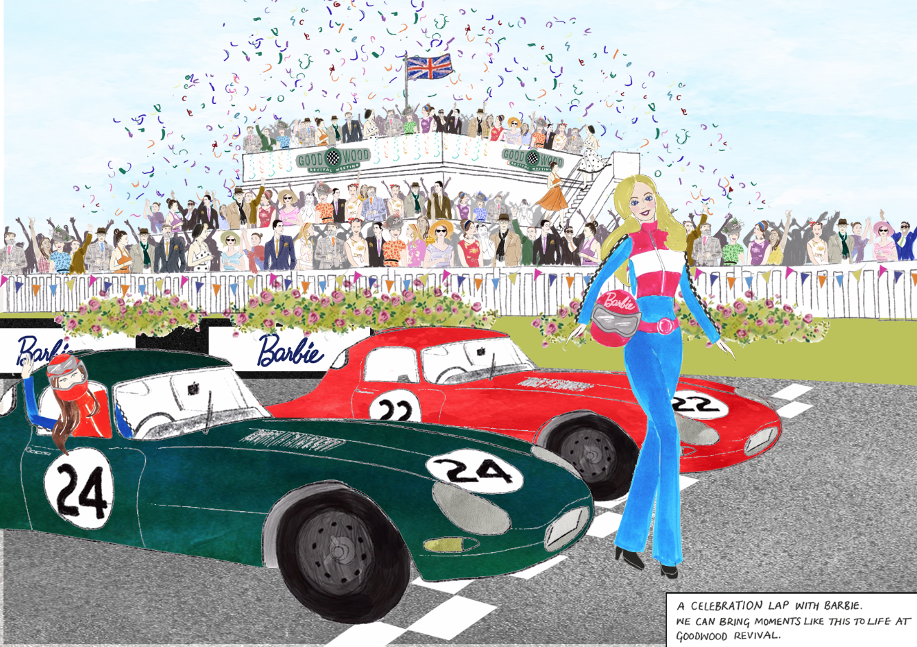 Goodwood Festival Illustration and Barbie