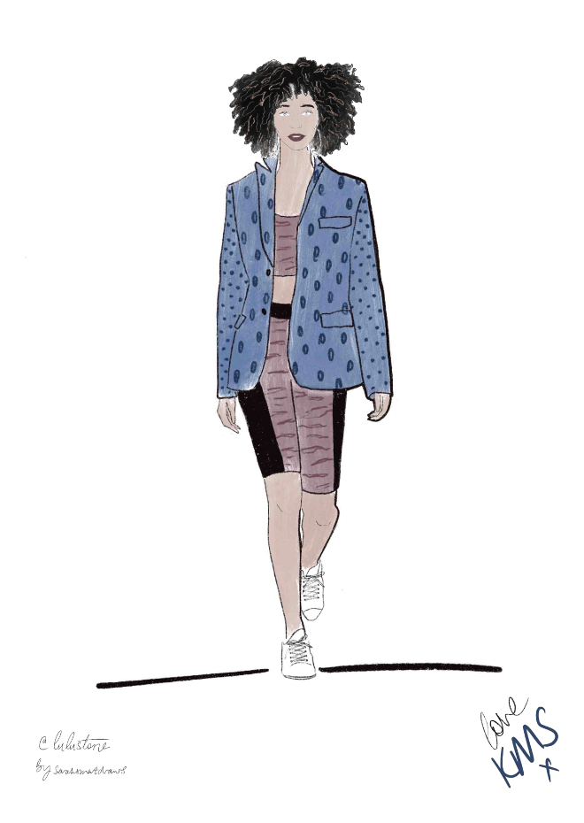 @lulustone fashion Illustration for KMS Hair