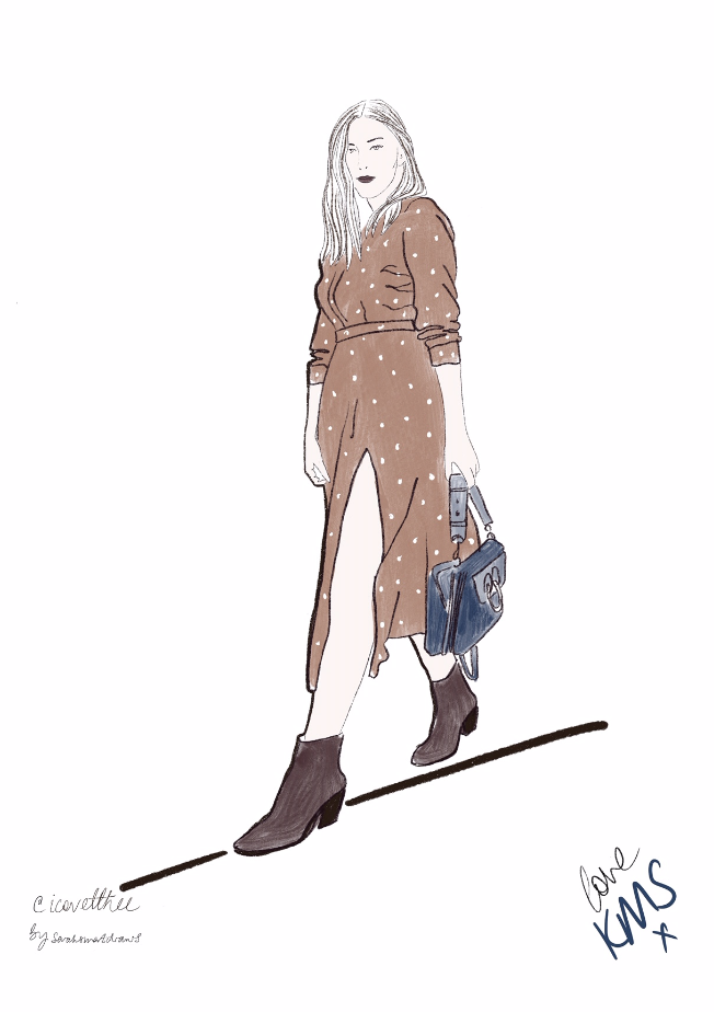 @icovetthee fashion illustration for KMS Hair