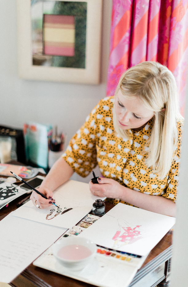 Sarah Smart Draws Live Fashion Illustrator