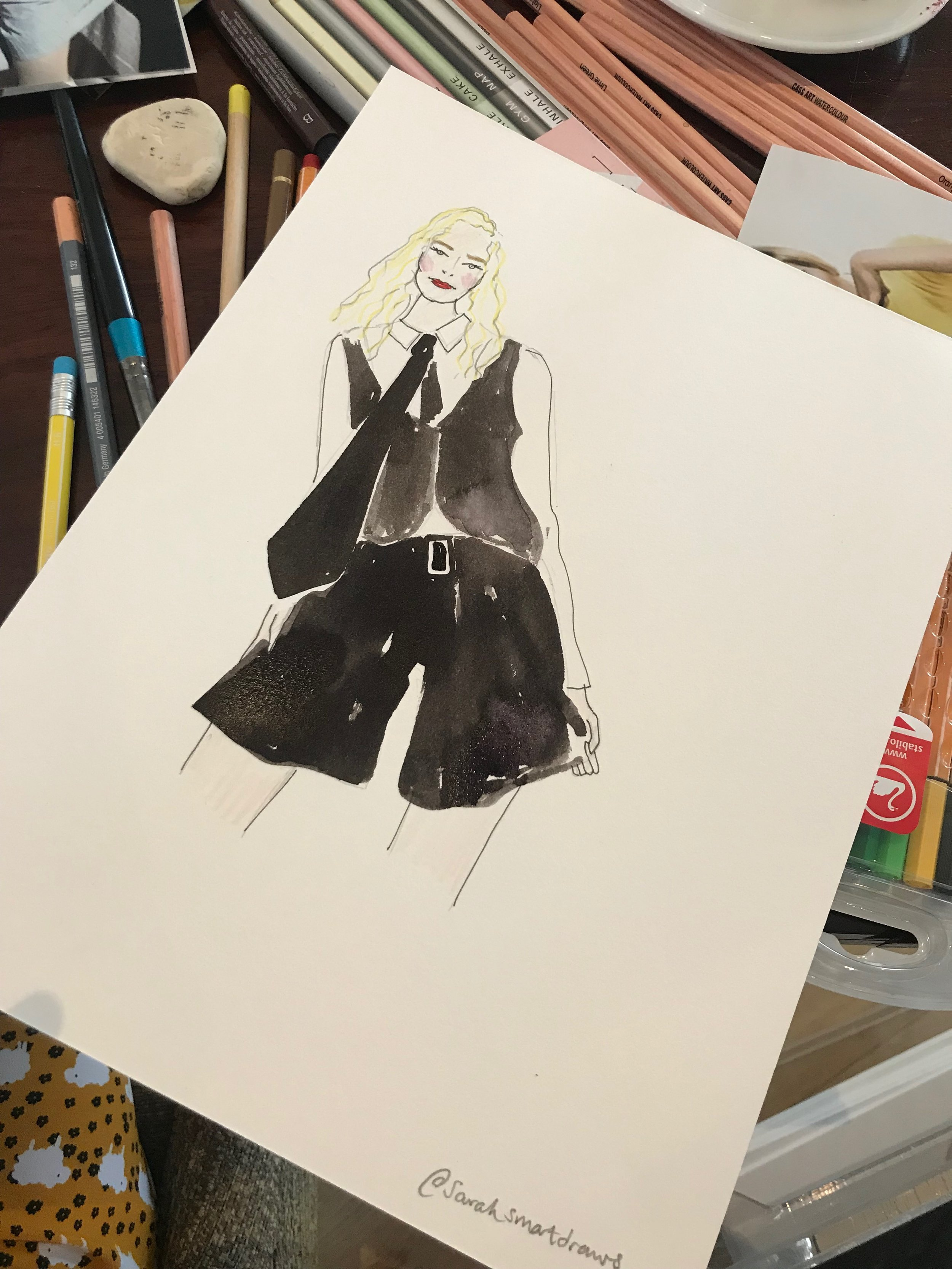 Mary Quant Afternoon Tea Influencer Event Illustration @xdebbietowiex