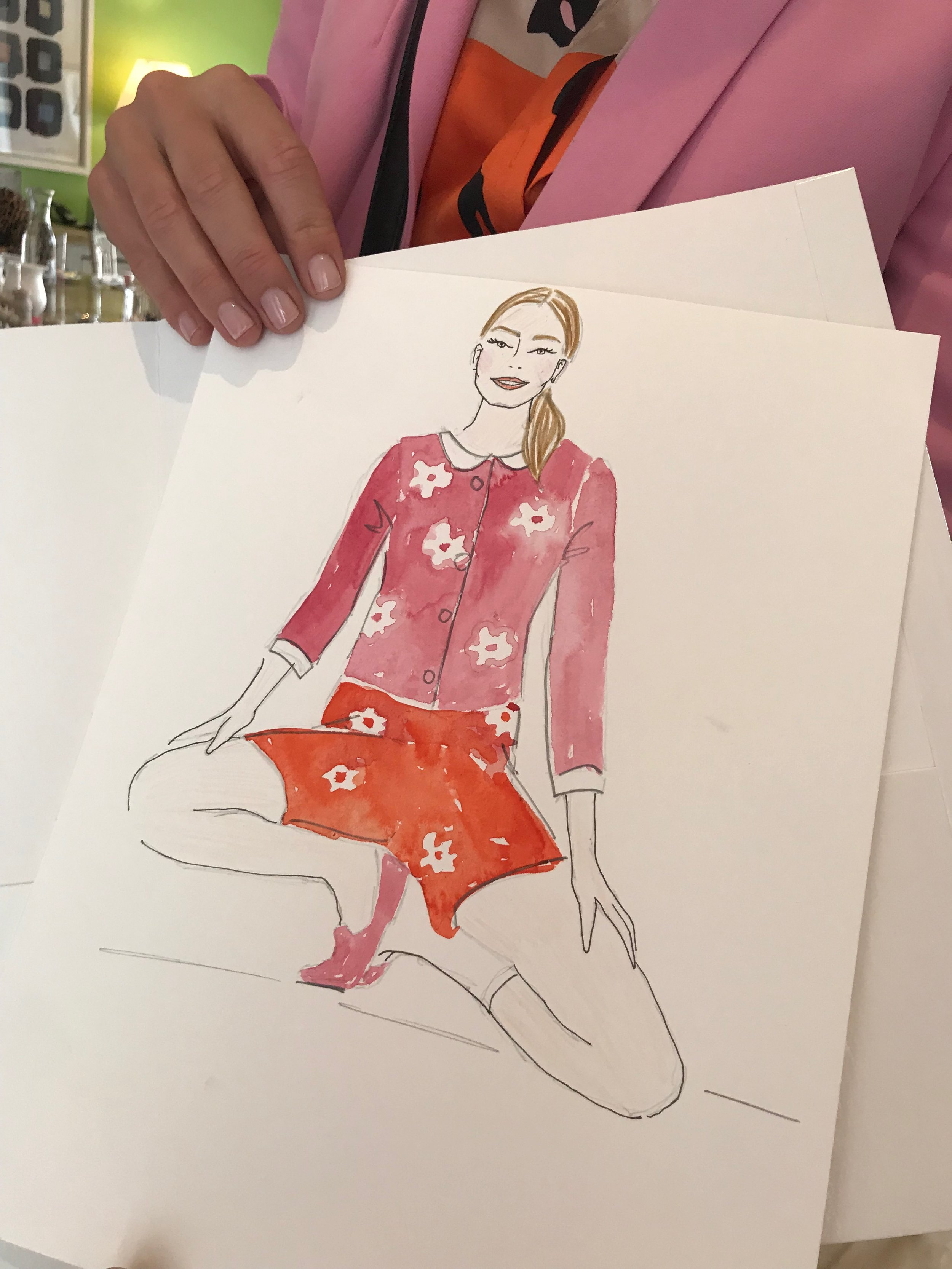 Mary Quant Afternoon Tea Influencer Event Illustration @lydiabright