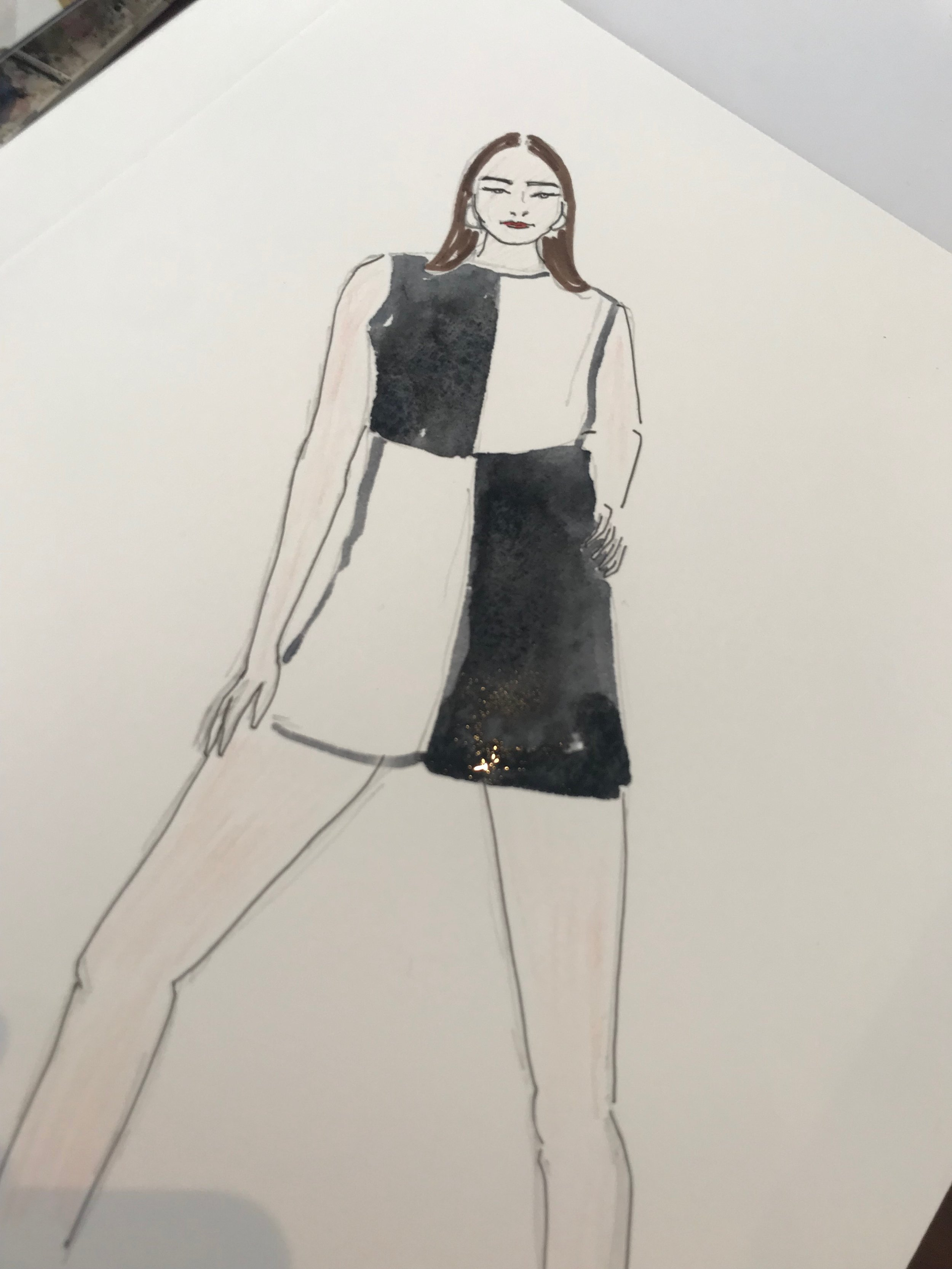 Mary Quant Afternoon Tea Influencer Event Illustration @amyastrid