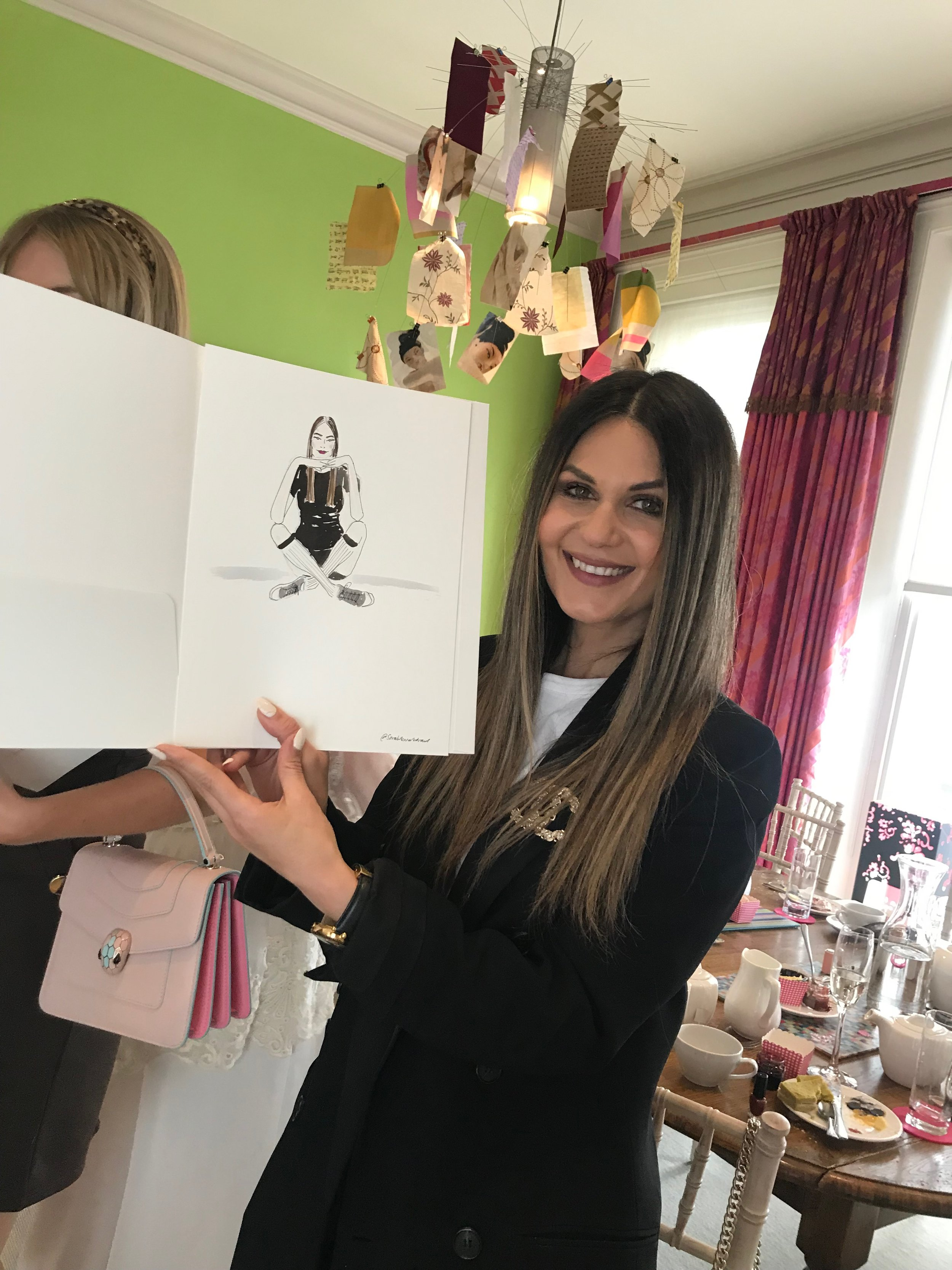 Mary Quant Afternoon Tea Influencer Event Illustration @mercer7official