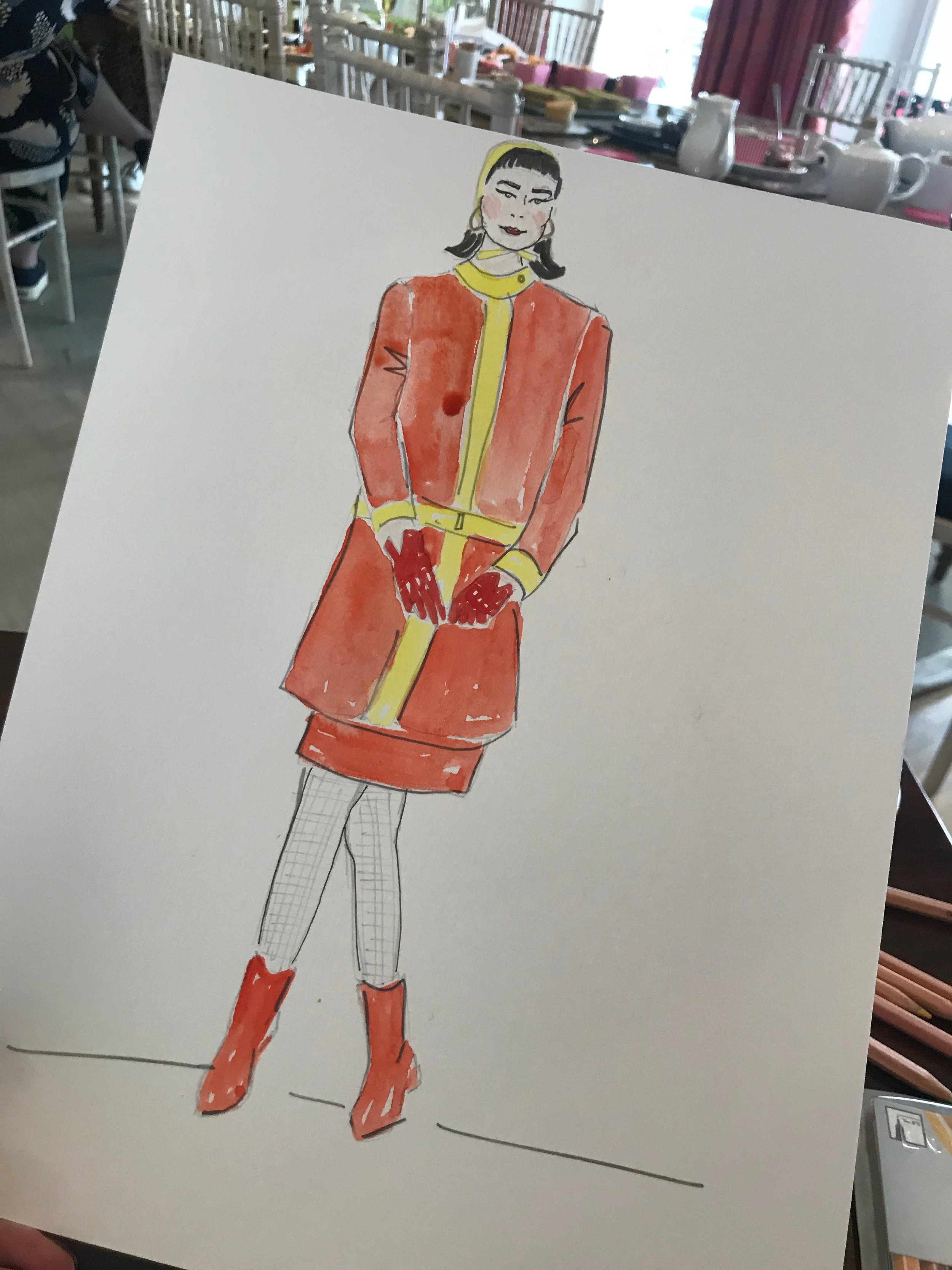 Mary Quant Afternoon Tea Influencer Event Illustration @offciallafete