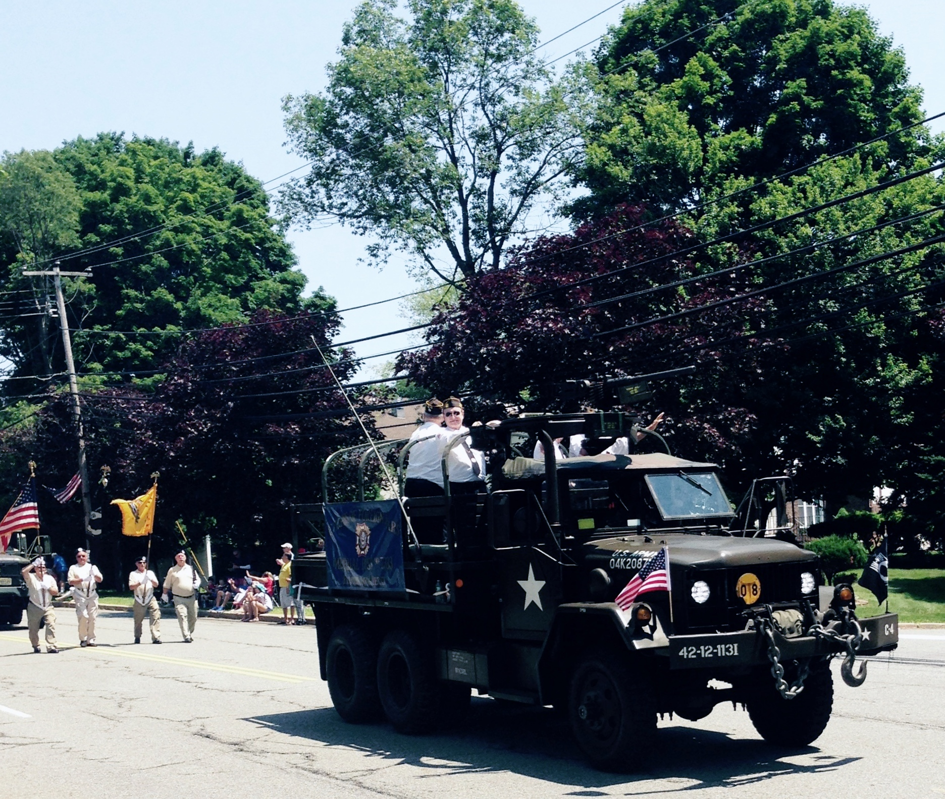 2015 Fourth of July Parade - VFW members Bill, John, Ray and Mario.
