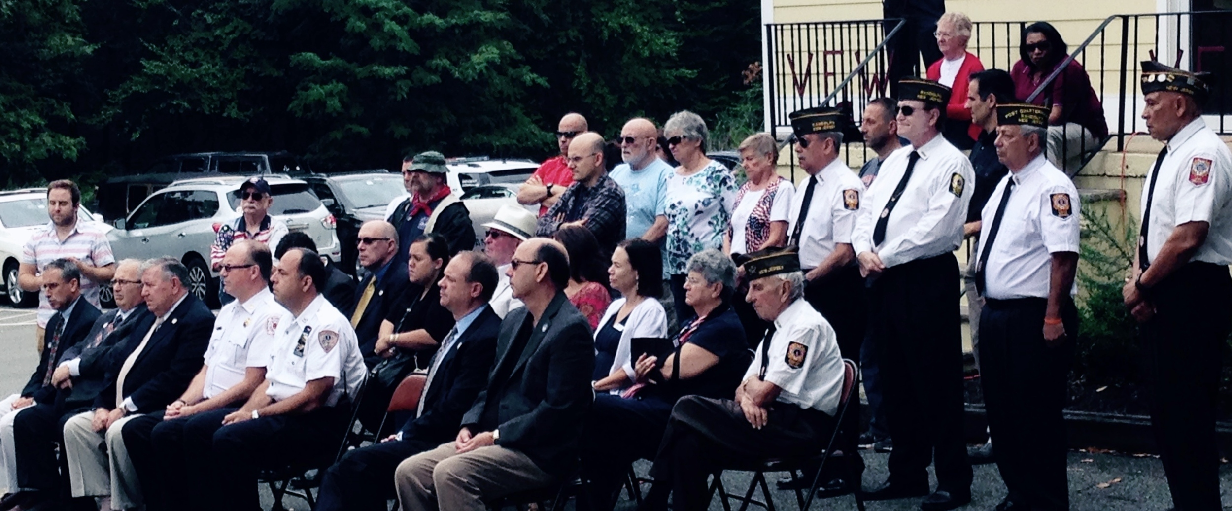 Patriots Day 2015 - Guests included Randolph Township Council Members Loveys and Napoliello and State Senator Anthony Bucco   VFW members shown are Mario( seated ) and Angel, Bill , Rich and Emerson.