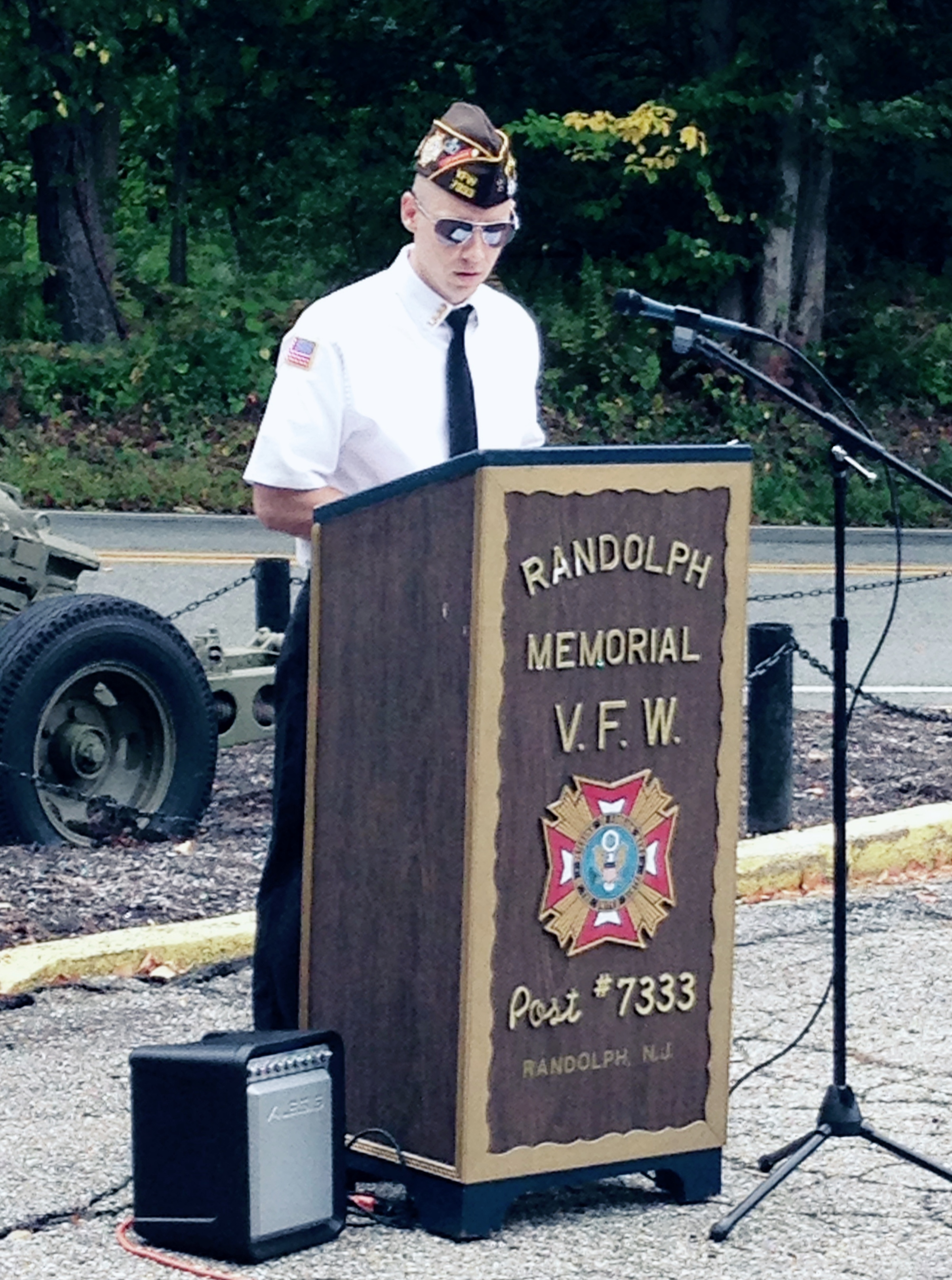 Patriot's Day 2015 - Commander Scott commemorating the heroes and the fallen of September 11, 2001.