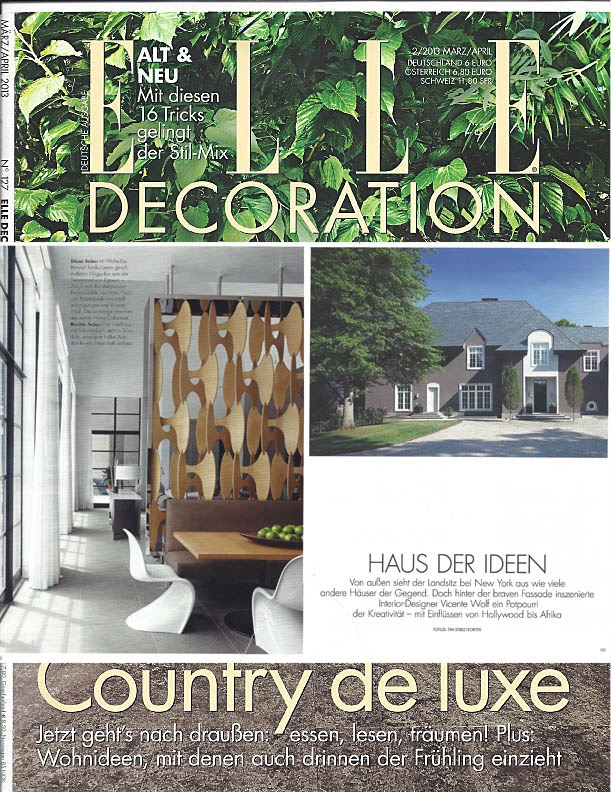 ELLE Decoration feature, Vicente Wolf