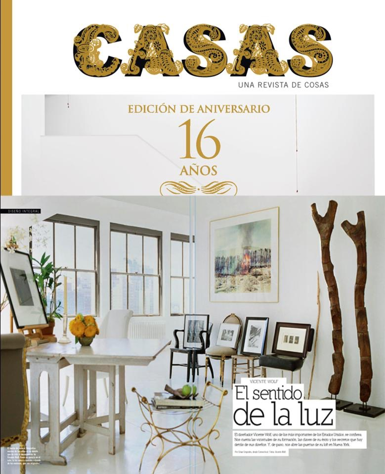 Casa feature, Vicente Wolf