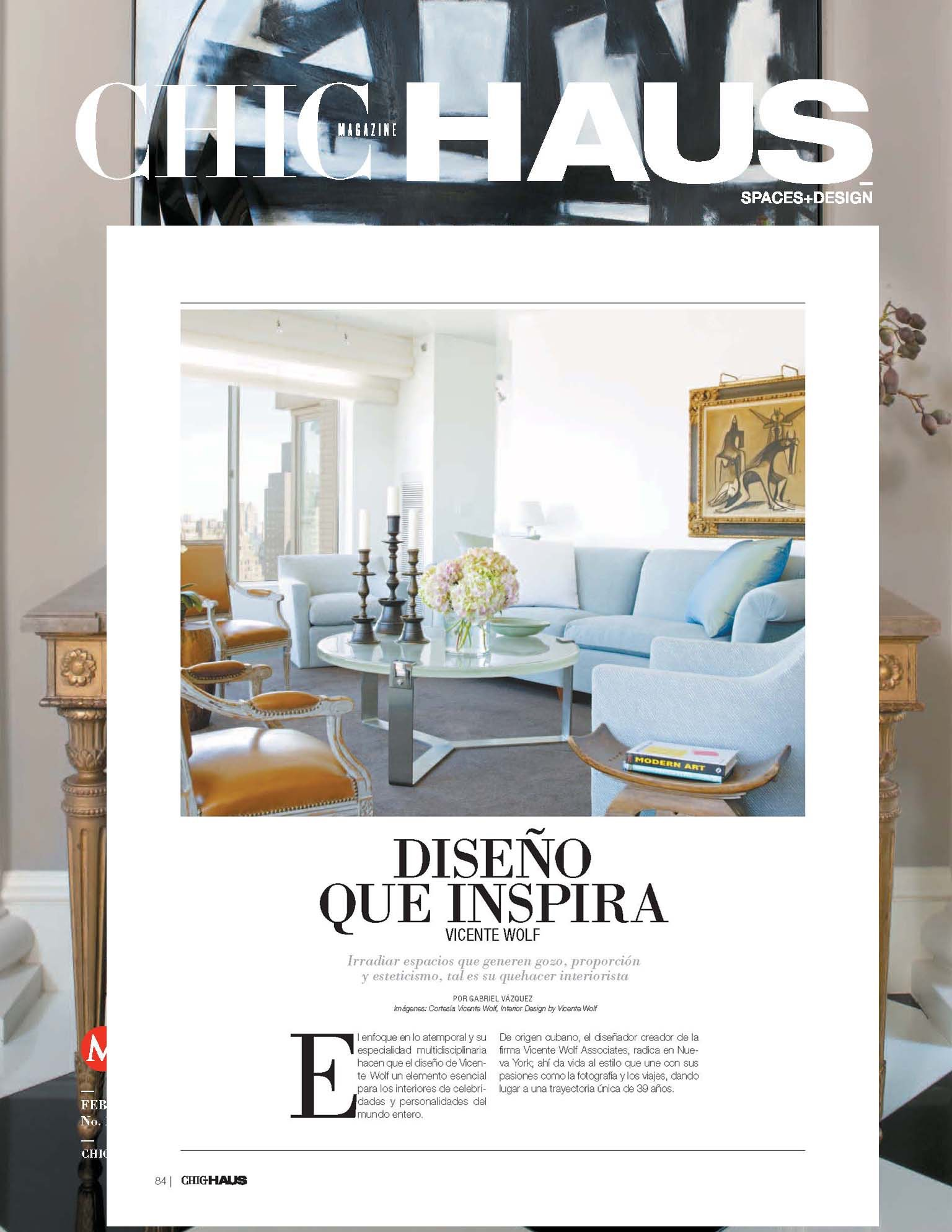 Chic Haus feature, Vicente Wolf
