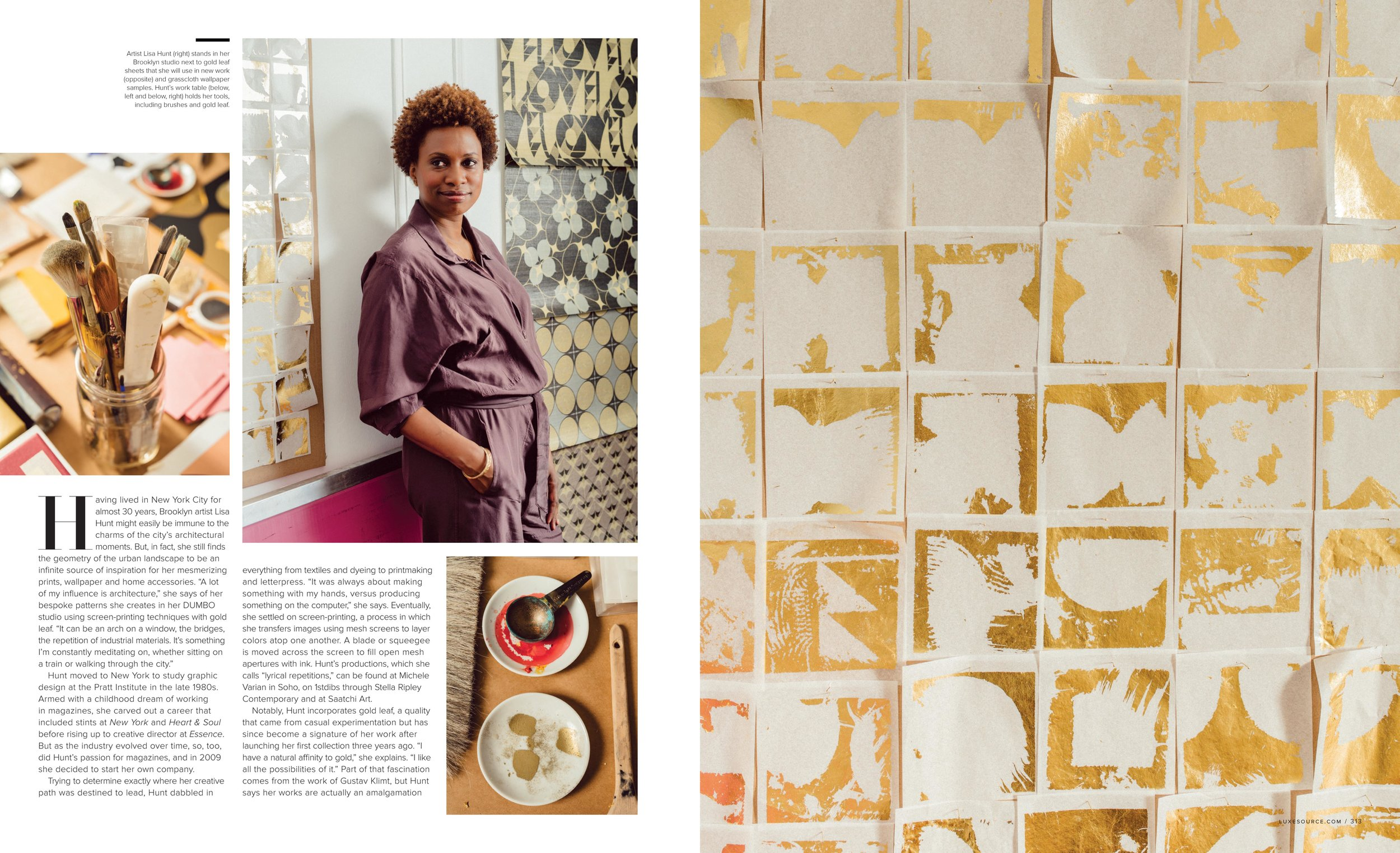 Luxe Magazine, July 2018 Feature, Lisa Hunt Creative (page2)