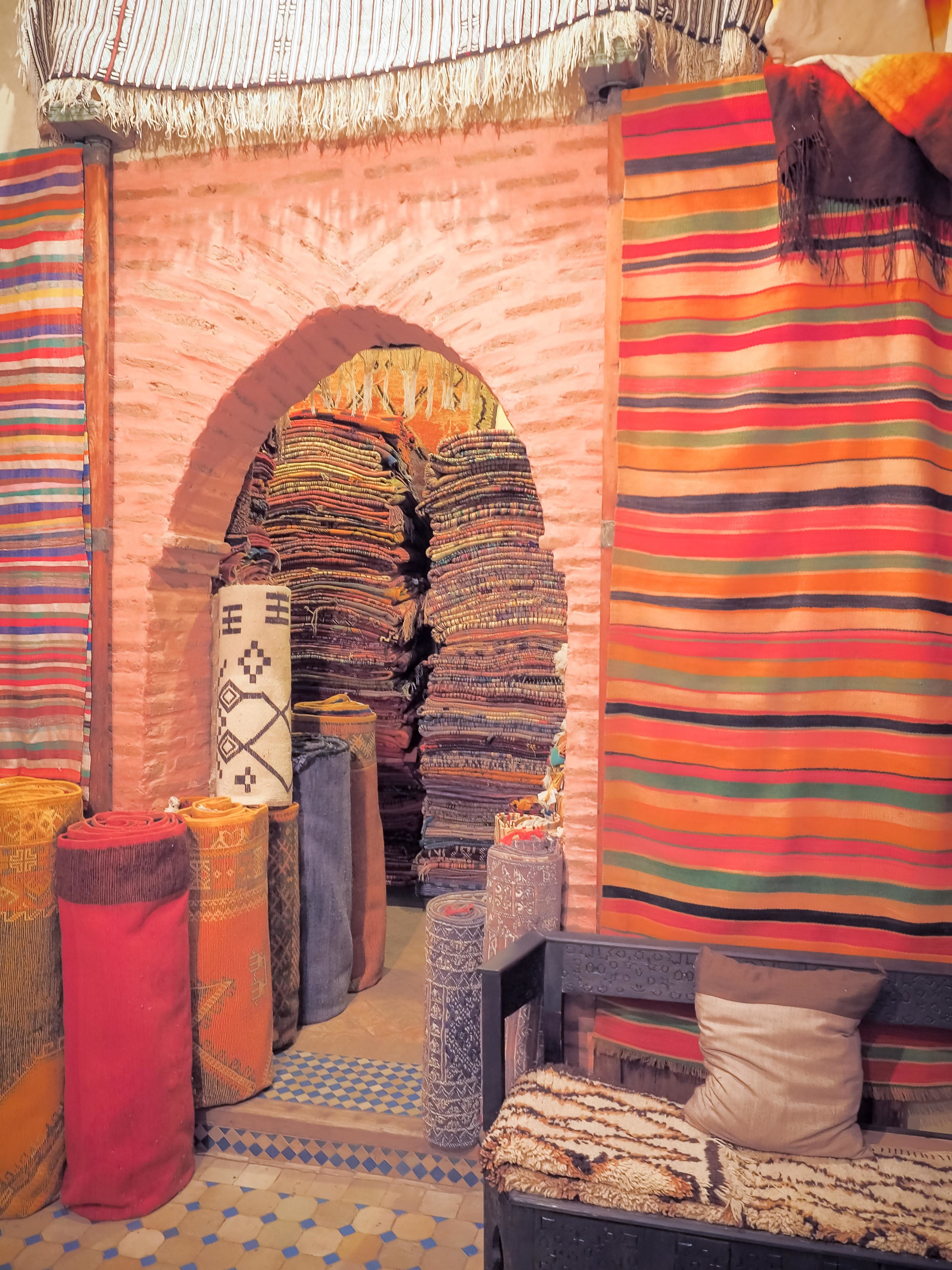 One of the charming little rug rooms.